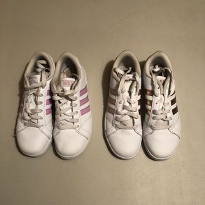 Two Pairs Girls Converse Size 3